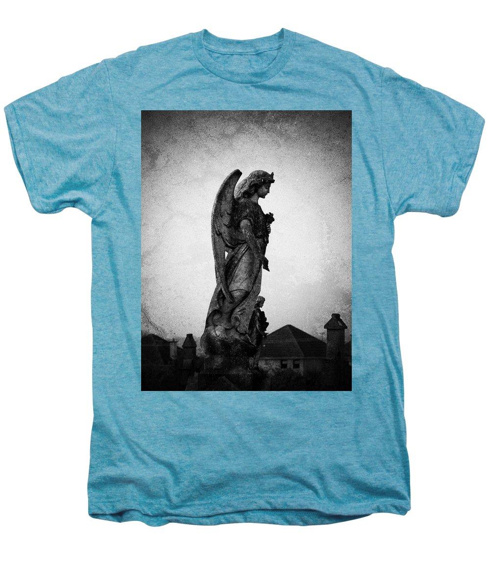 Roscommon Men's Premium T-Shirt featuring the photograph Roscommonn Angel No 4 by Teresa Mucha