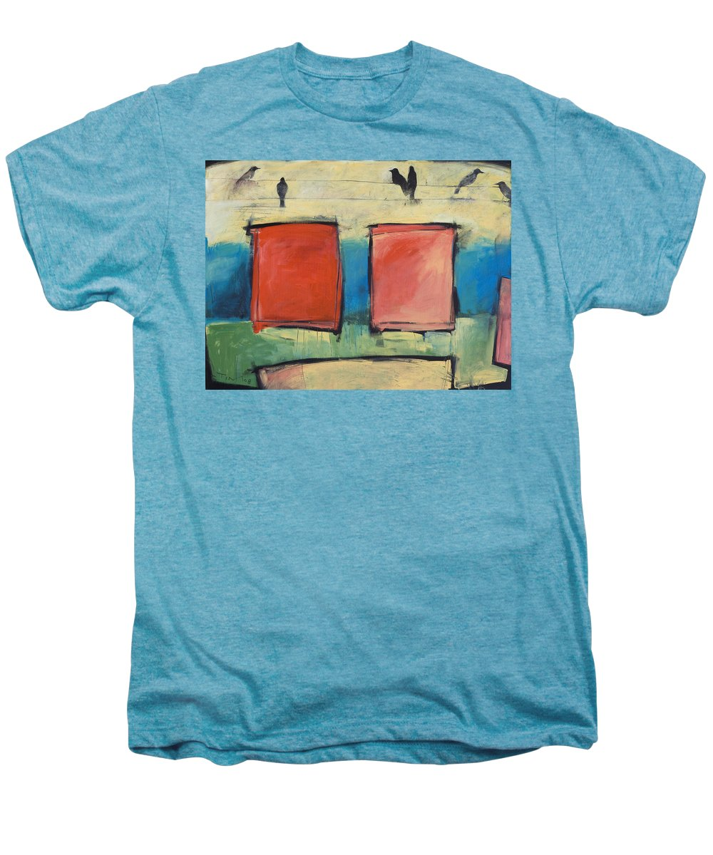 Rothko Men's Premium T-Shirt featuring the painting Rothko Meets Hitchcock by Tim Nyberg