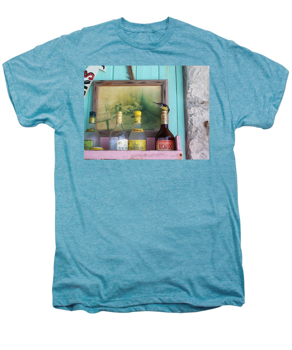 Charity Men's Premium T-Shirt featuring the photograph Rum Shack Bananaquit by Mary-Lee Sanders