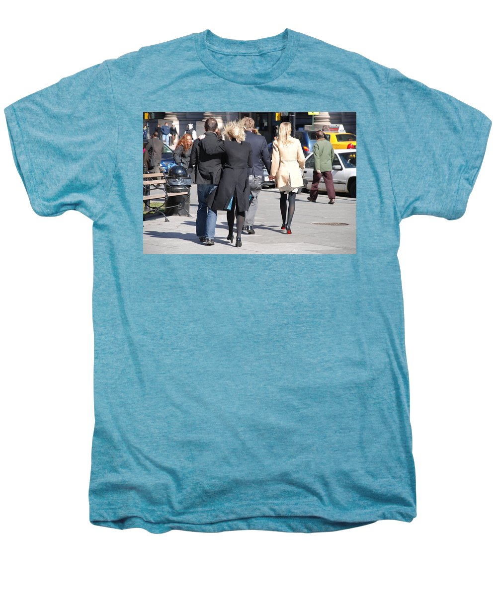 Urban Men's Premium T-Shirt featuring the photograph Rushing To The Alter by Rob Hans