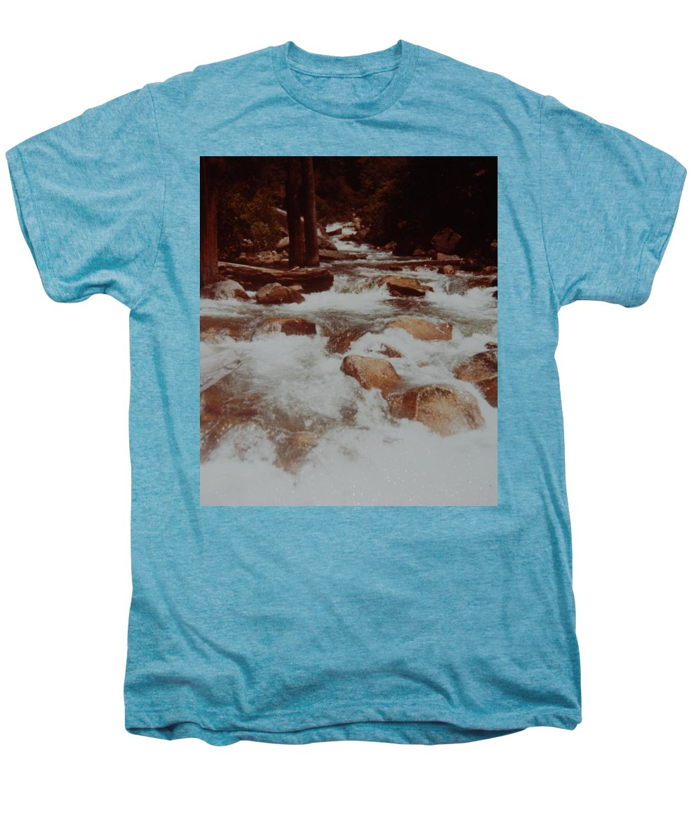 Water Men's Premium T-Shirt featuring the photograph Rushing Water by Rob Hans