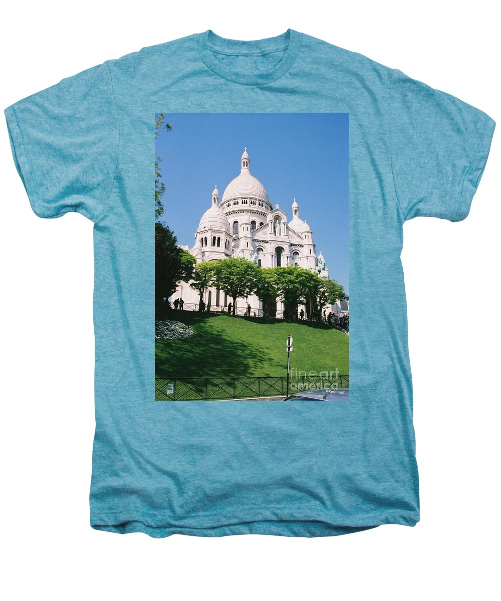 Church Men's Premium T-Shirt featuring the photograph Sacre Coeur by Nadine Rippelmeyer