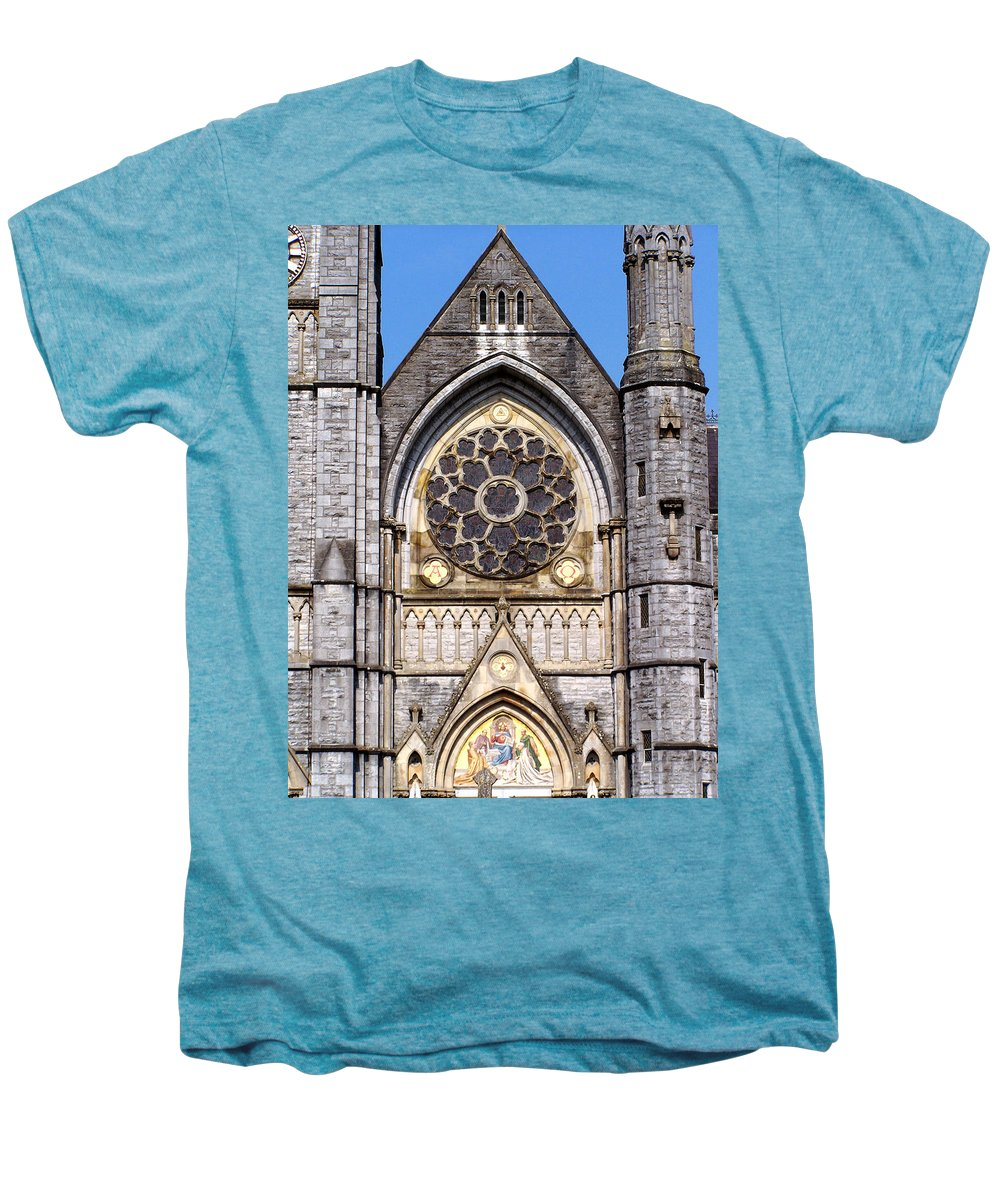 Ireland Men's Premium T-Shirt featuring the photograph Sacred Heart Church Detail Roscommon Ireland by Teresa Mucha