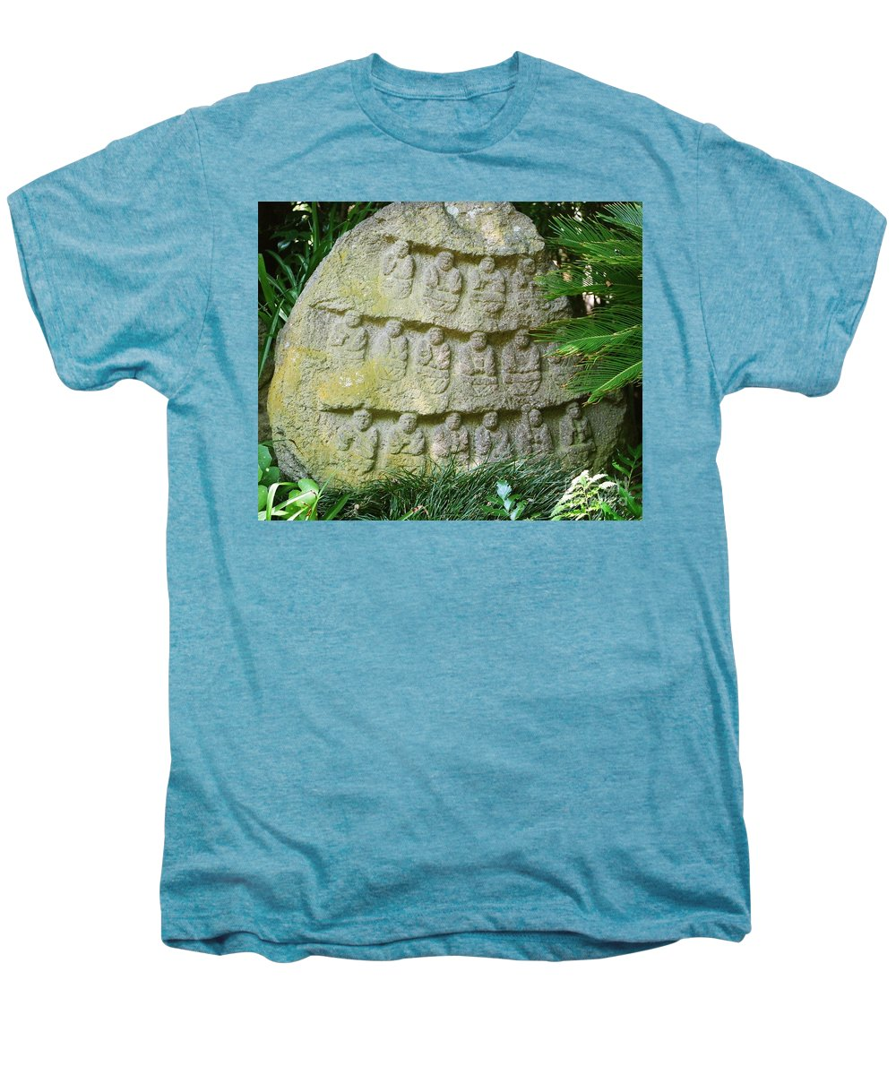 Stone Men's Premium T-Shirt featuring the photograph Sacred Stone by Dean Triolo