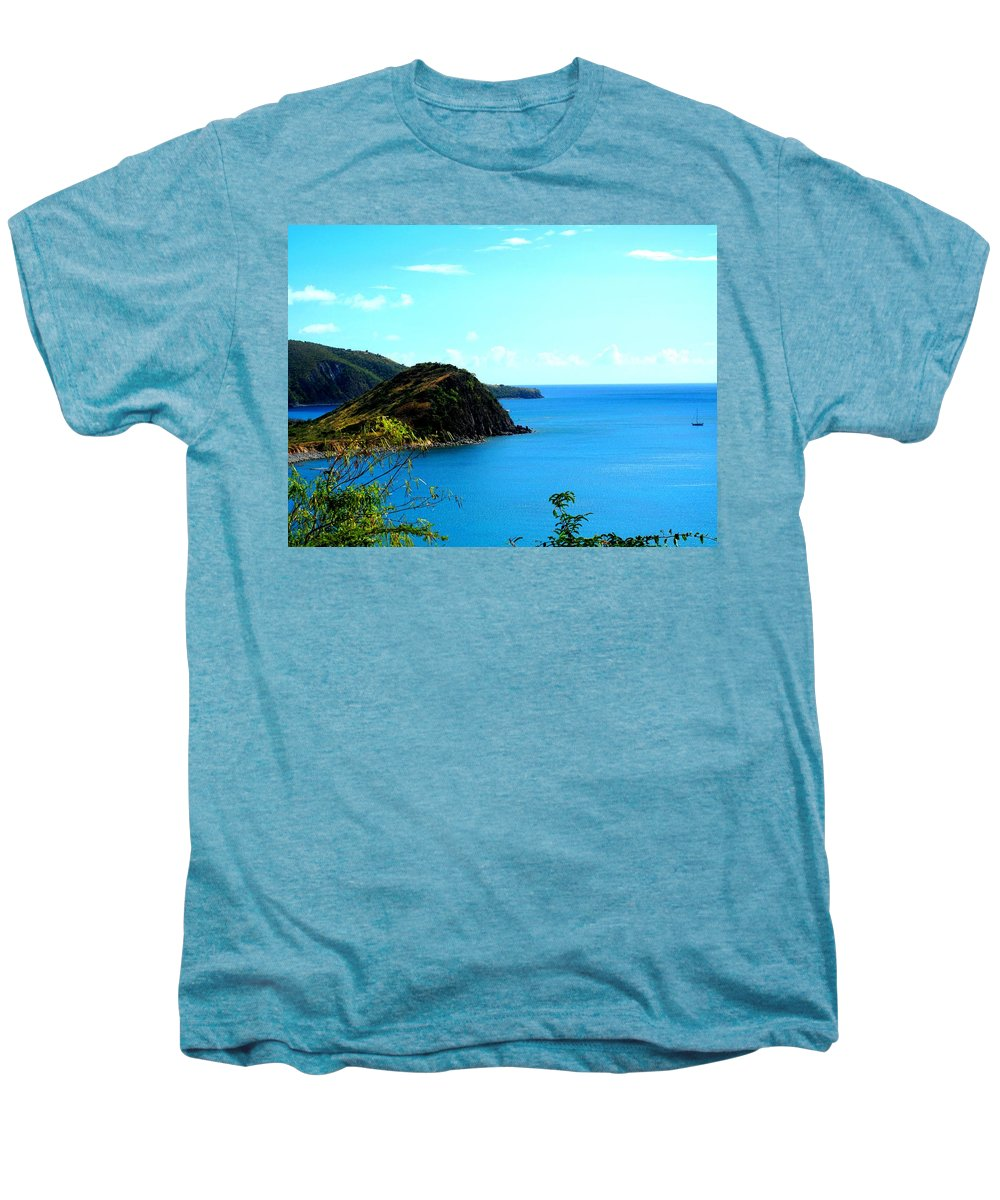 St Kitts Men's Premium T-Shirt featuring the photograph Safe Harbor by Ian MacDonald