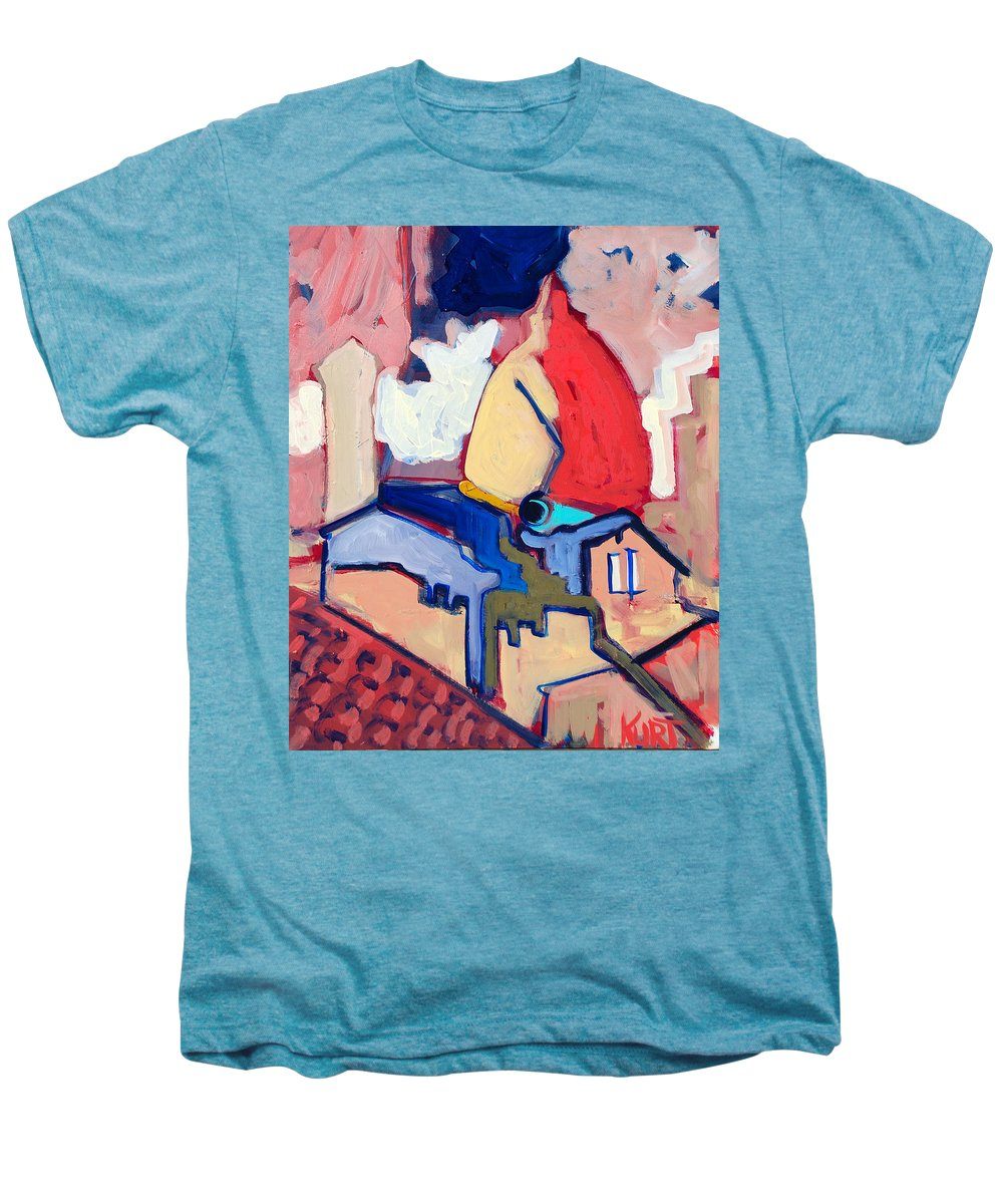 Florence Men's Premium T-Shirt featuring the painting Salutare by Kurt Hausmann