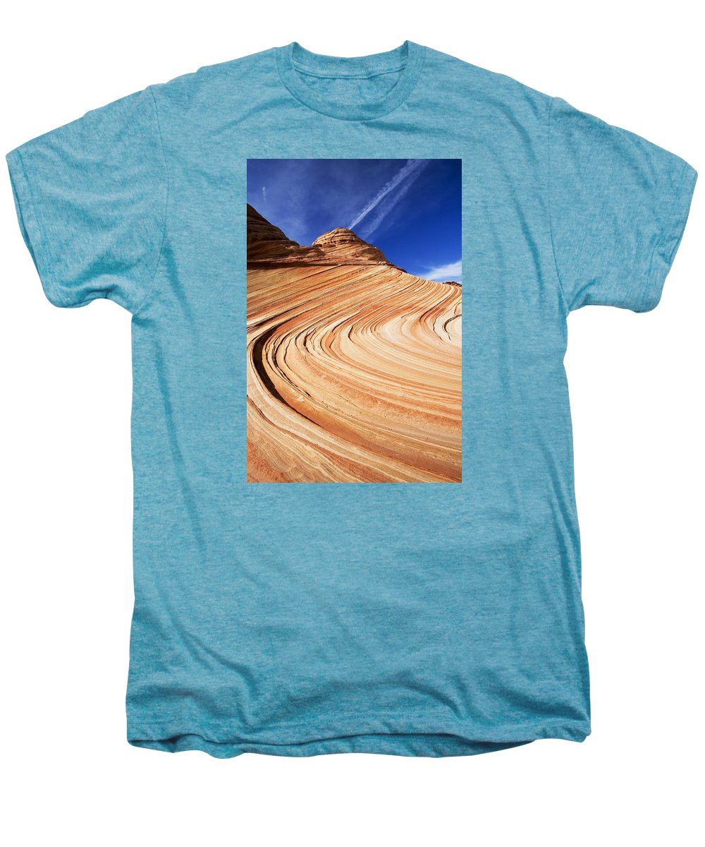 The Wave Men's Premium T-Shirt featuring the photograph Sandstone Slide by Mike Dawson