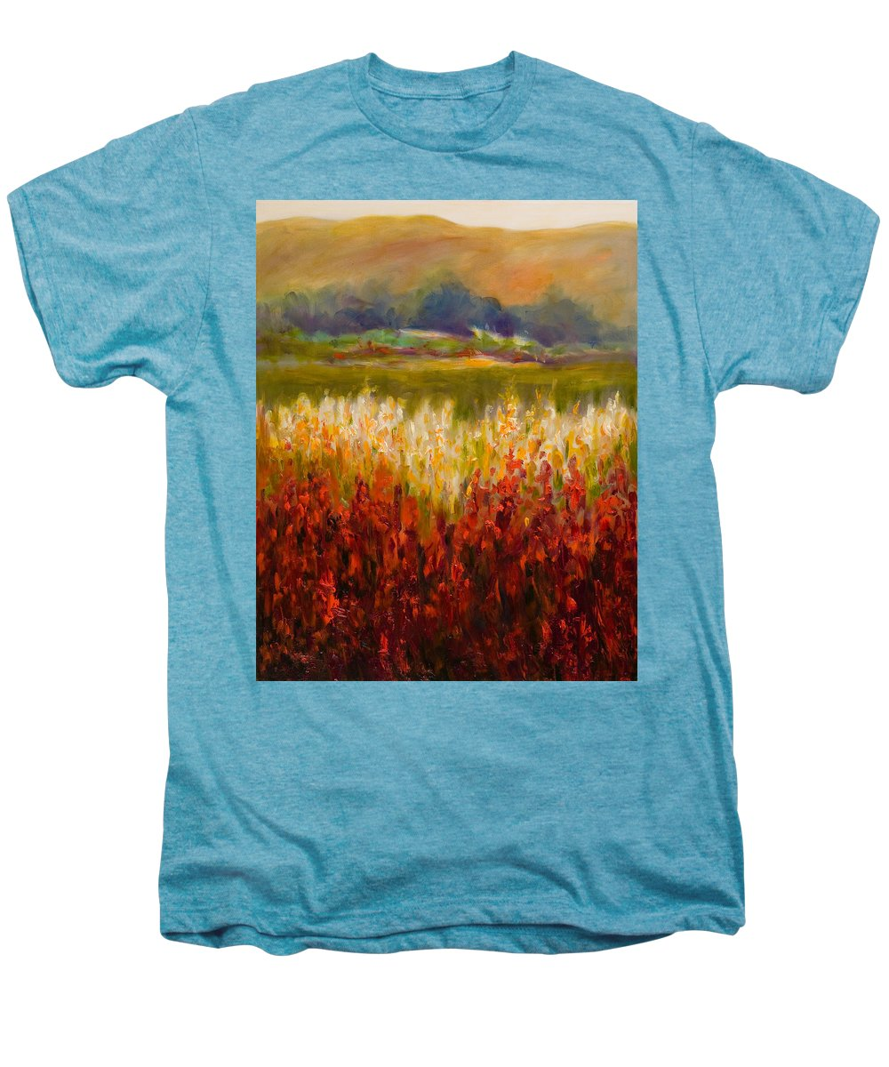 Landscape Men's Premium T-Shirt featuring the painting Santa Rosa Valley by Shannon Grissom