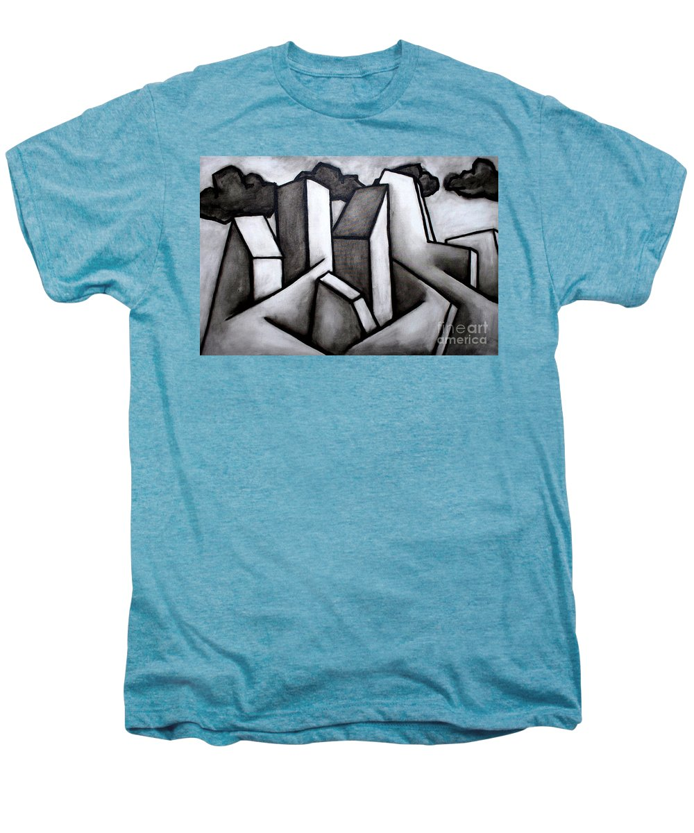 Absract Men's Premium T-Shirt featuring the painting Scape by Thomas Valentine