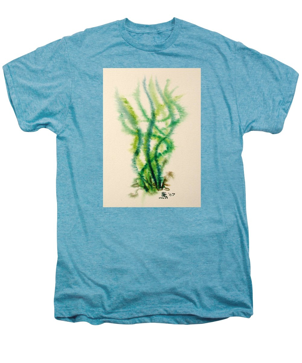 Sea Men's Premium T-Shirt featuring the painting Sea Bed One by Dave Martsolf