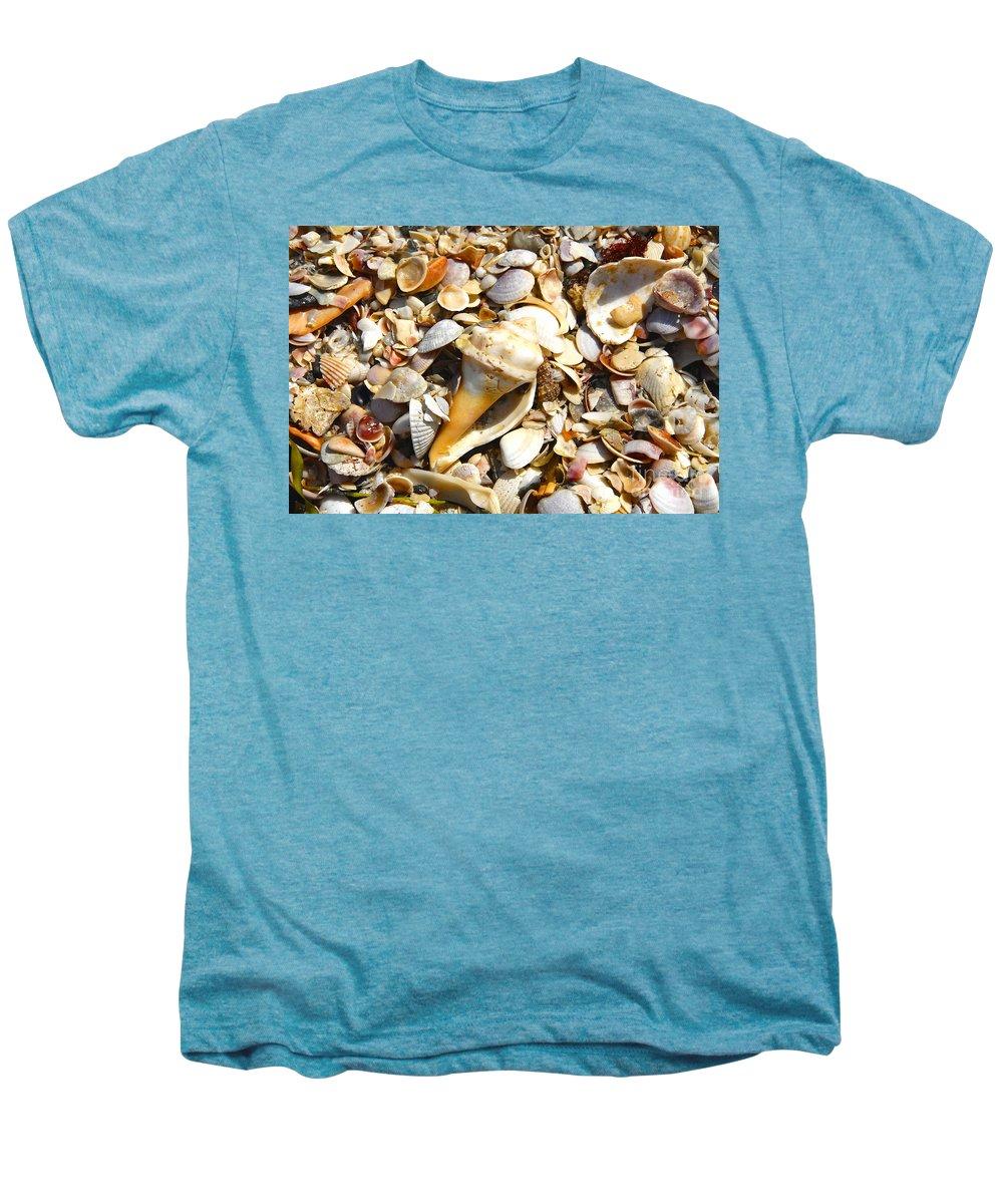 Florida Men's Premium T-Shirt featuring the photograph Sea Shells by David Lee Thompson