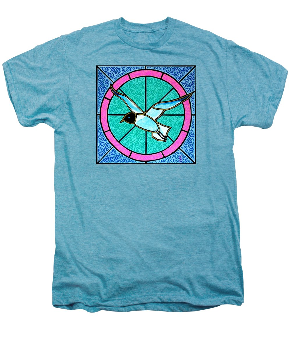 Seagull Men's Premium T-Shirt featuring the painting Seagull 4 by Jim Harris