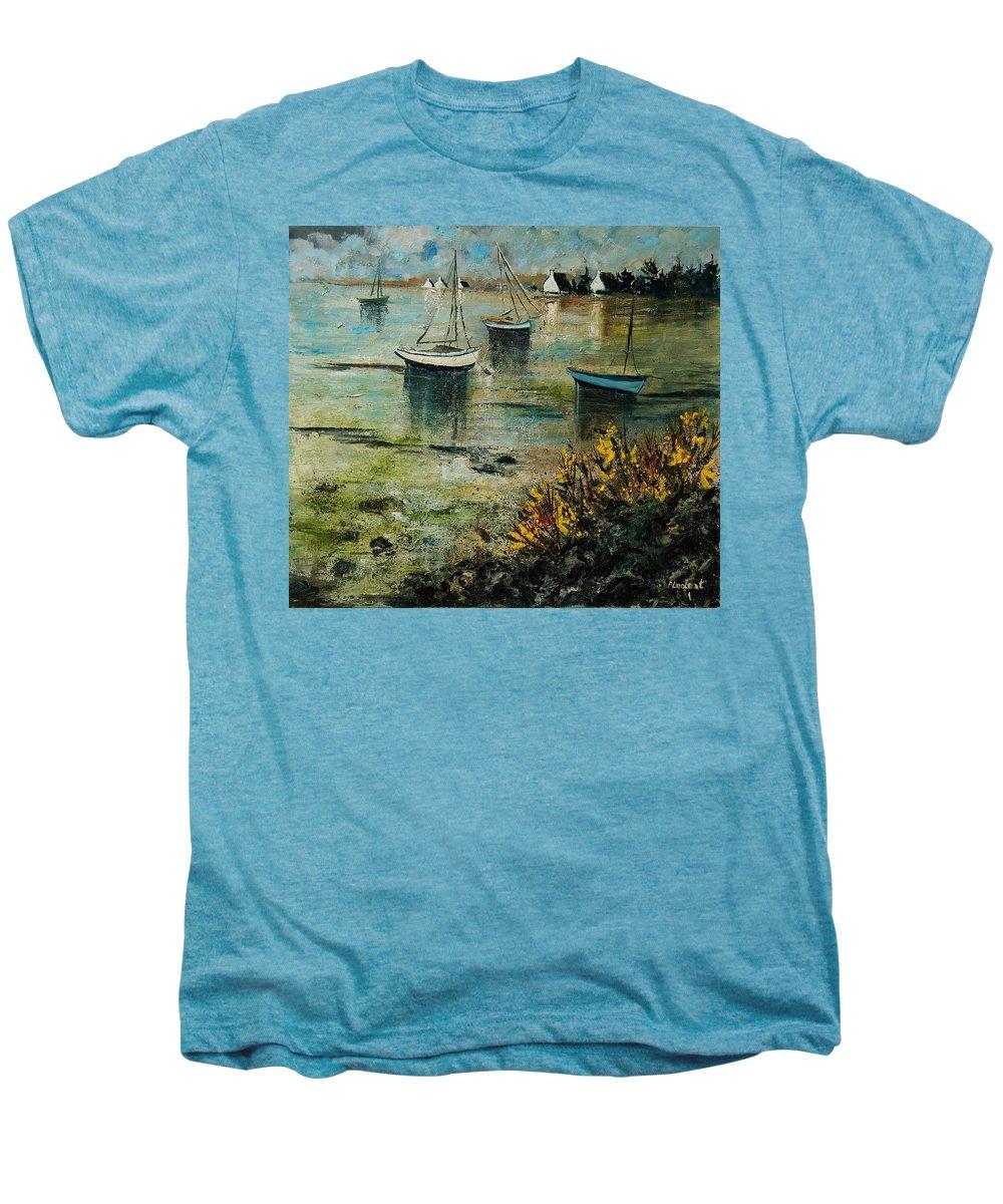 Seascape Men's Premium T-Shirt featuring the print Seascape 78 by Pol Ledent