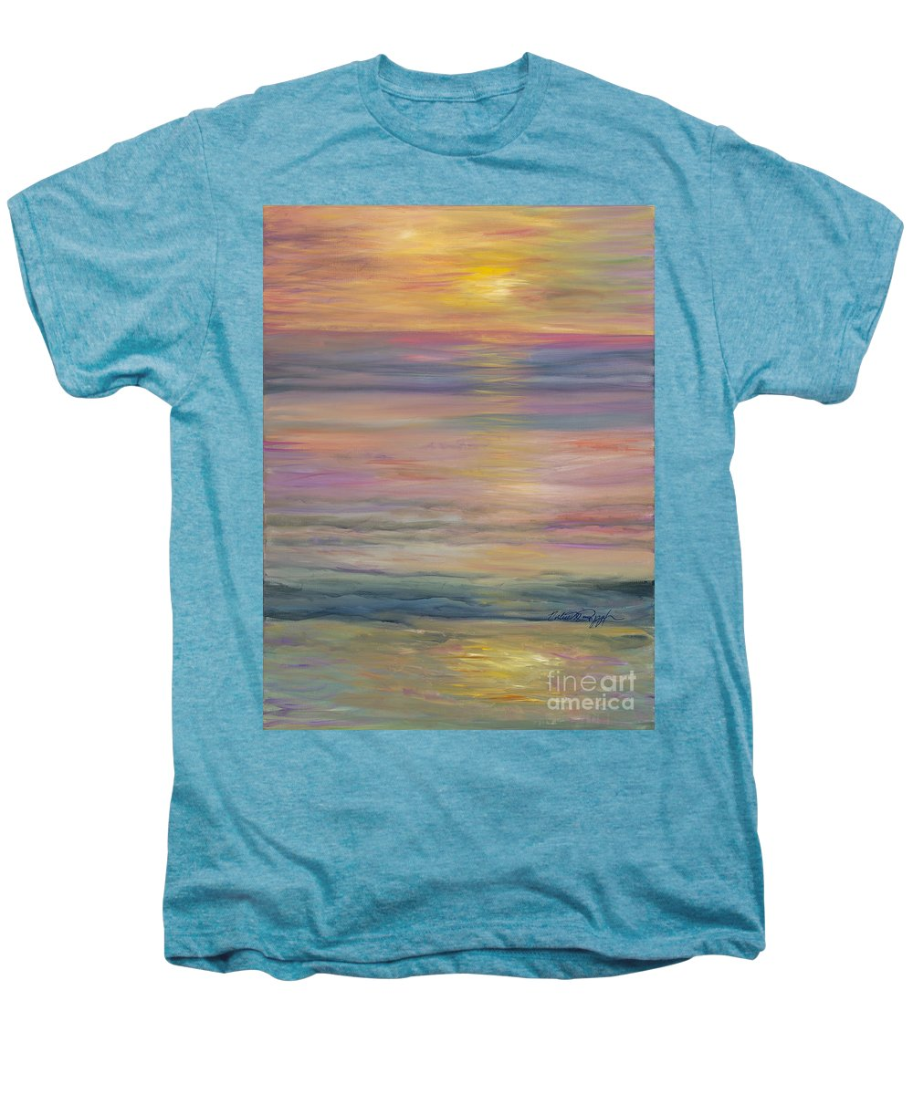 Sea Men's Premium T-Shirt featuring the painting Seascape by Nadine Rippelmeyer
