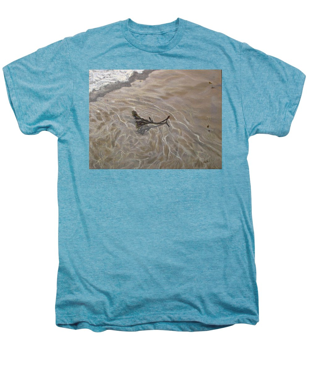 Seascape Men's Premium T-Shirt featuring the painting Seashore Reflections by Lea Novak