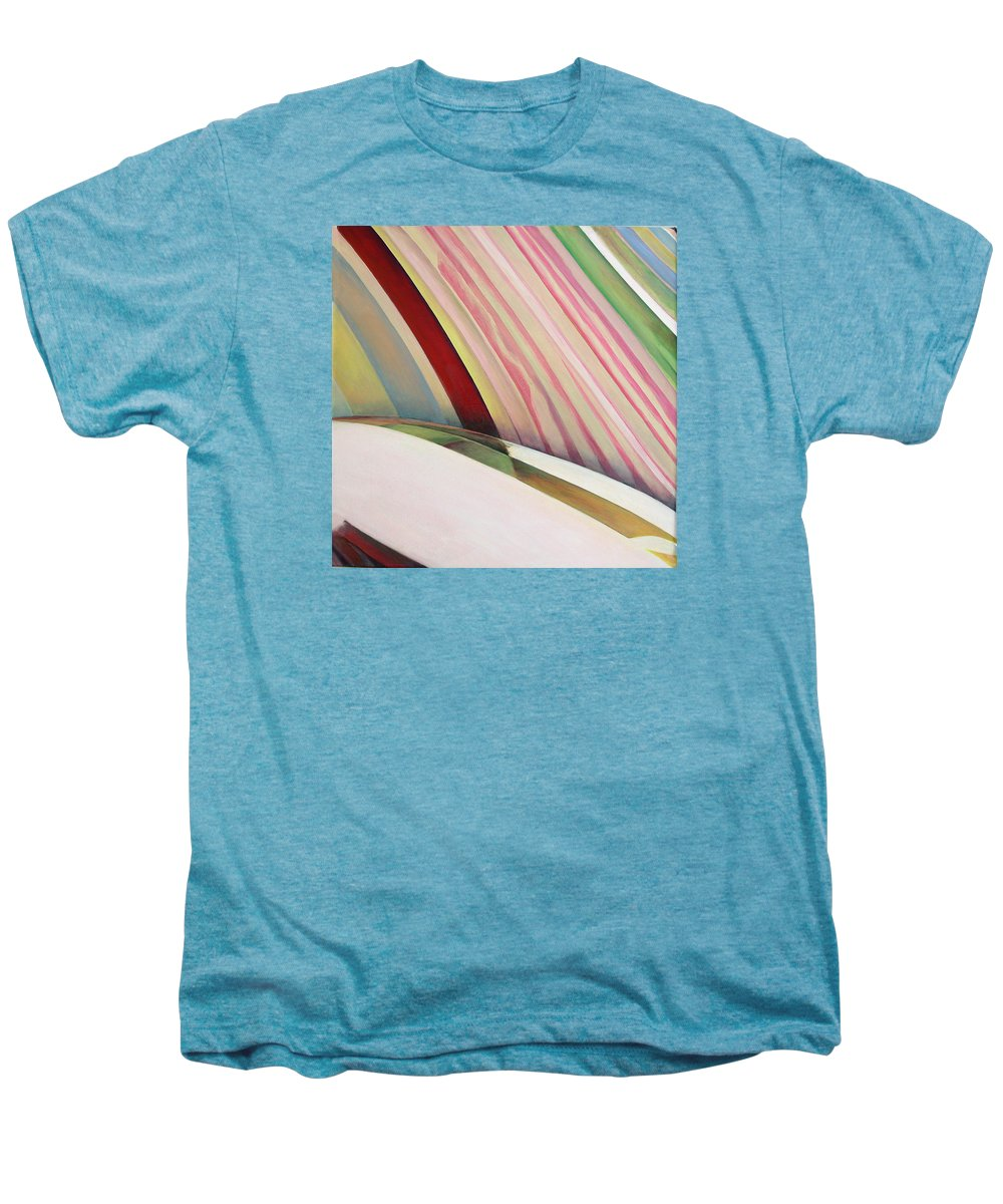 Abstract Men's Premium T-Shirt featuring the painting Sens 1 by Muriel Dolemieux