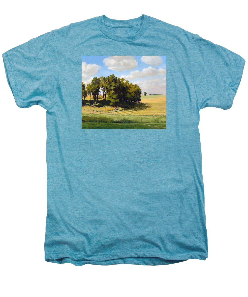 Landscape Men's Premium T-Shirt featuring the painting September Summer by Bruce Morrison