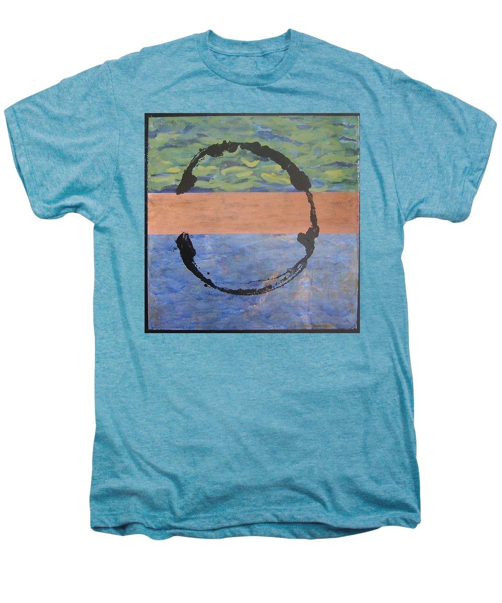 Serenity Men's Premium T-Shirt featuring the painting Serenity by Ellen Beauregard