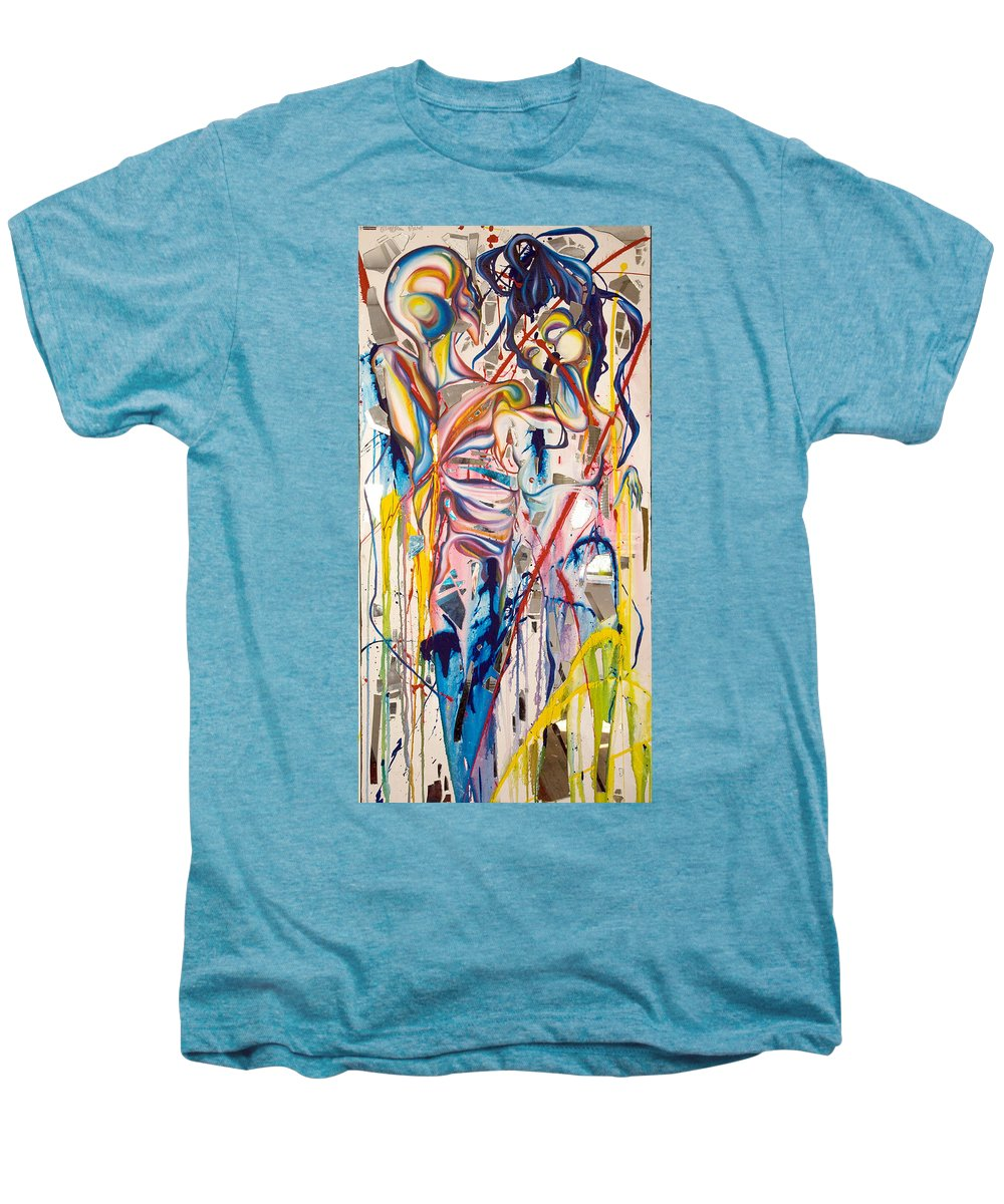 Abstract Men's Premium T-Shirt featuring the painting Shards by Sheridan Furrer