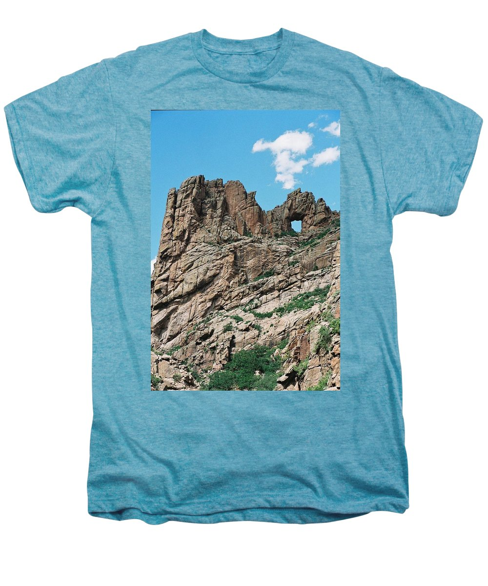 Shelf Road Men's Premium T-Shirt featuring the photograph Shelf Road Rock Formations by Anita Burgermeister