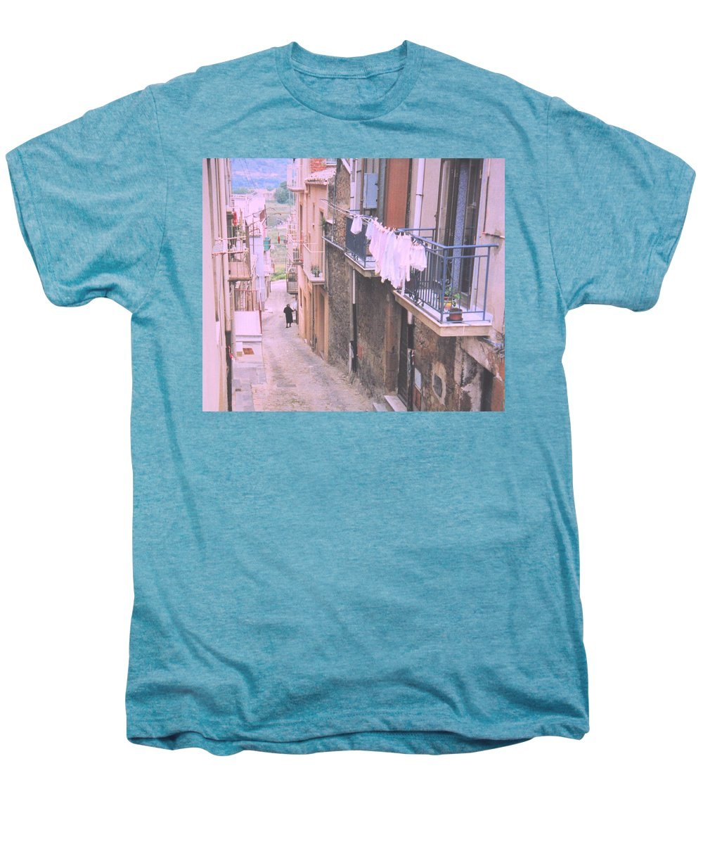 Sicily Men's Premium T-Shirt featuring the photograph Sicily by Ian MacDonald