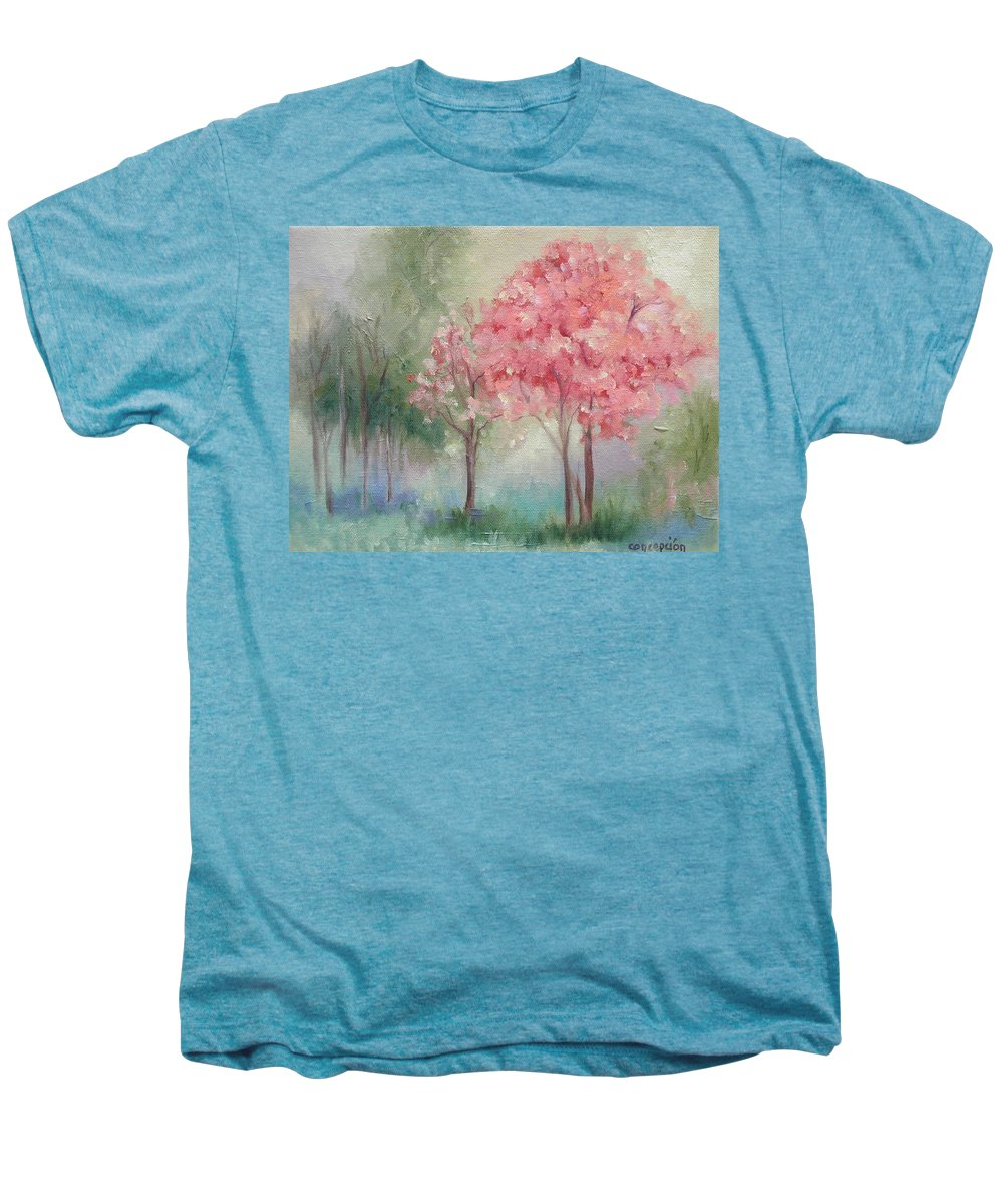 Spring Men's Premium T-Shirt featuring the painting Sign Of Spring by Ginger Concepcion