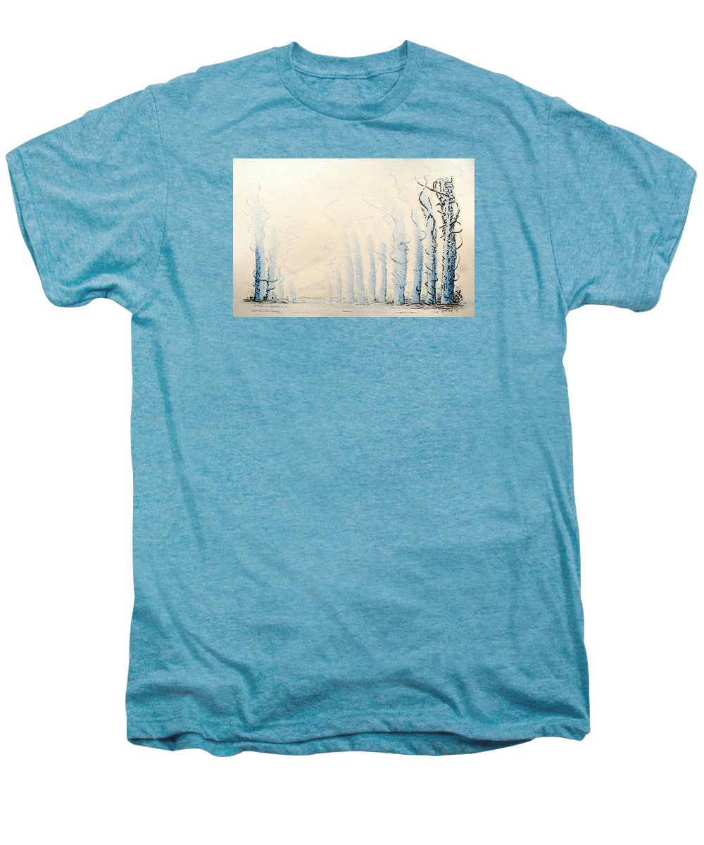 Watercolor Men's Premium T-Shirt featuring the painting Signals by Dave Martsolf