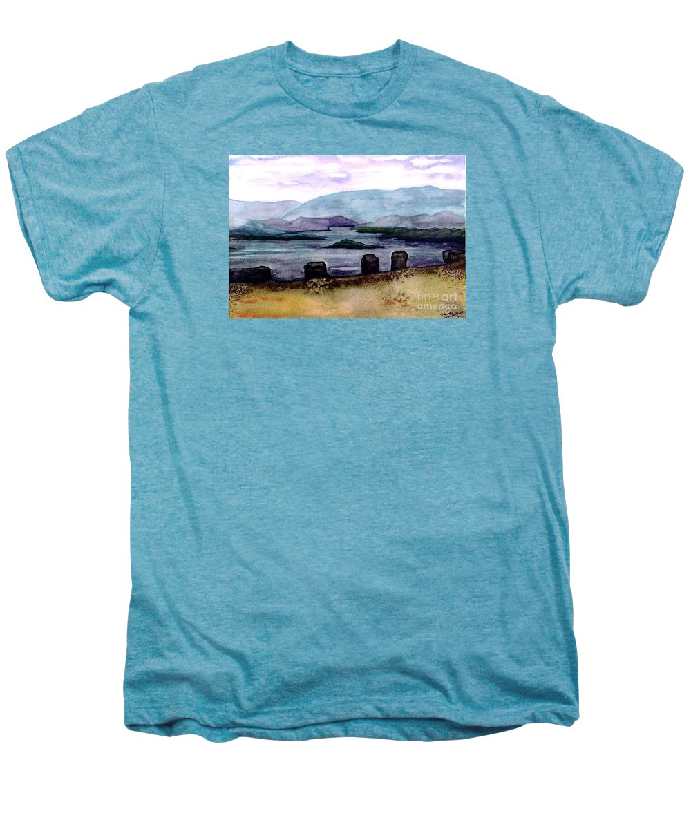 Original Painting Men's Premium T-Shirt featuring the painting Silent Sentinels by Patricia Griffin Brett