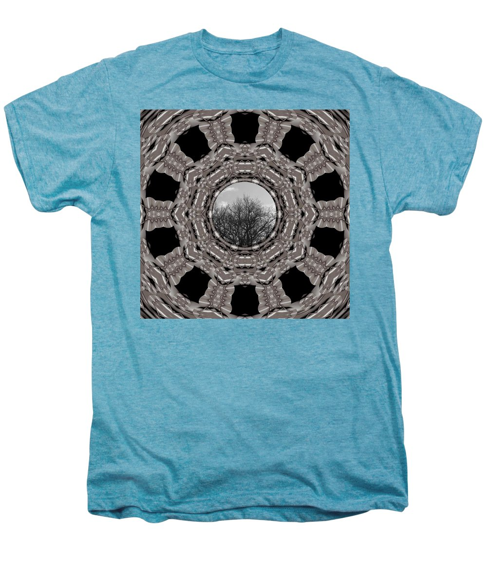 Tree Men's Premium T-Shirt featuring the mixed media Silver Idyl by Pepita Selles
