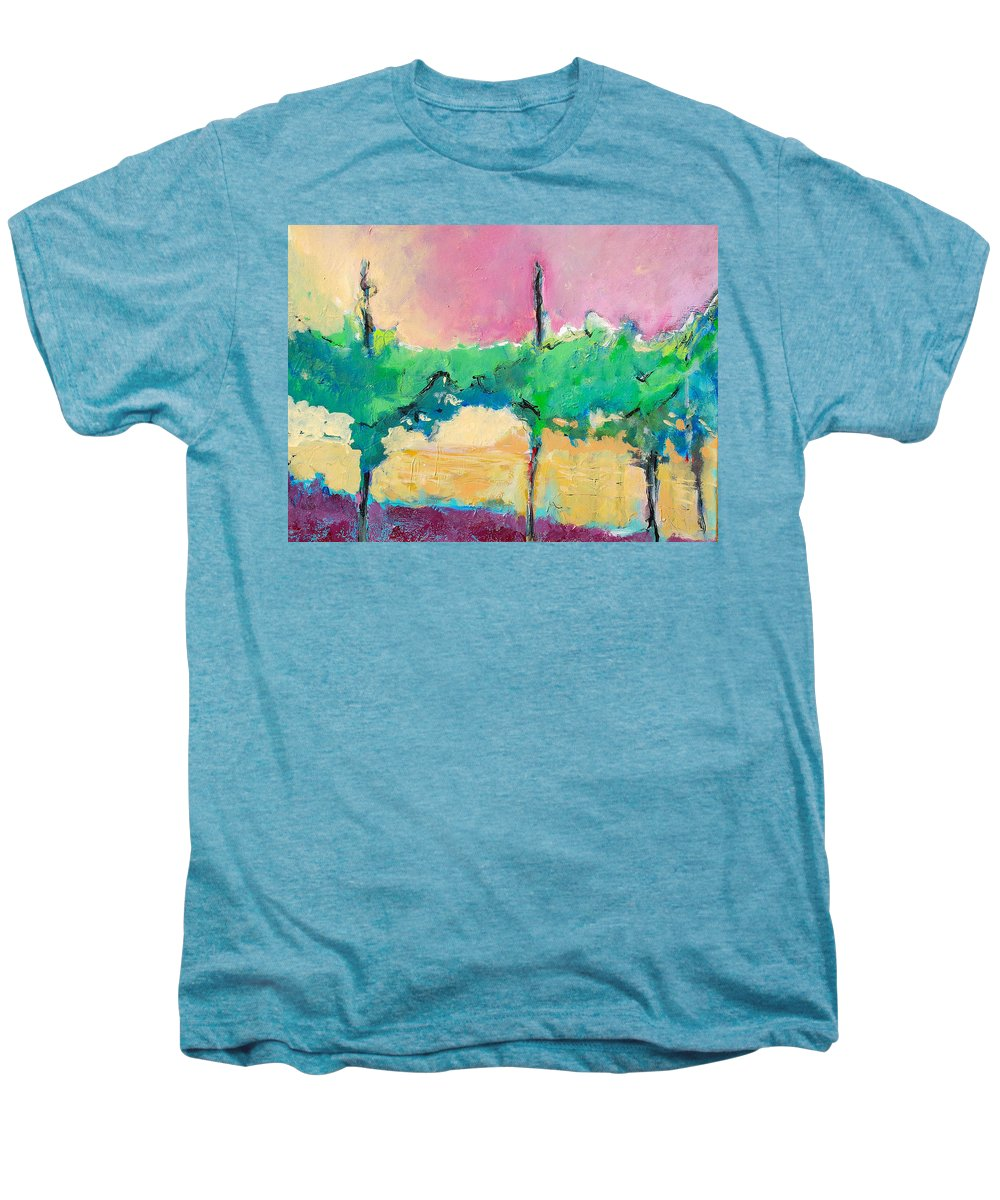 Vineyard Men's Premium T-Shirt featuring the painting Simpatico by Kurt Hausmann