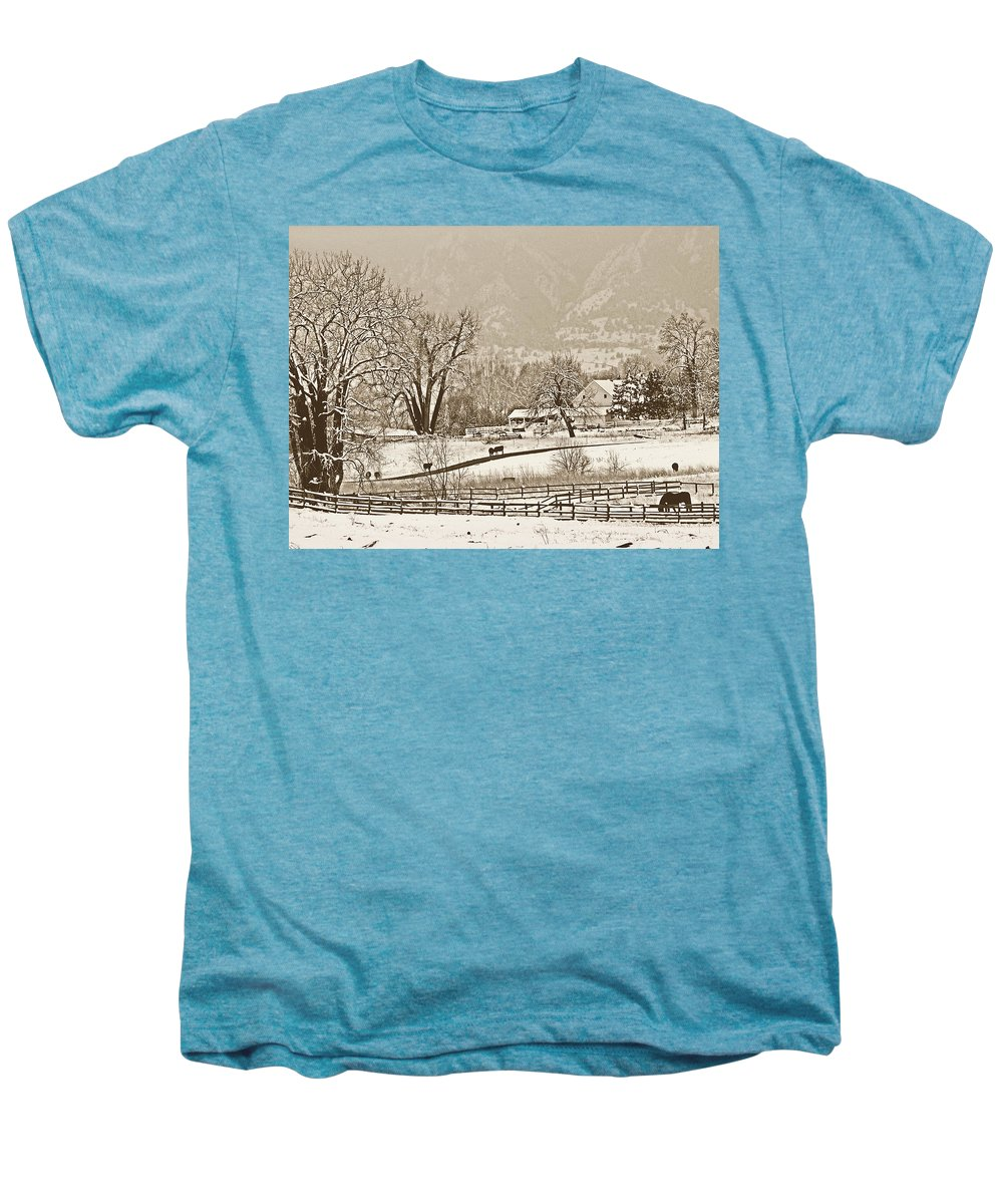 Landscape Men's Premium T-Shirt featuring the photograph Simpler Times by Marilyn Hunt