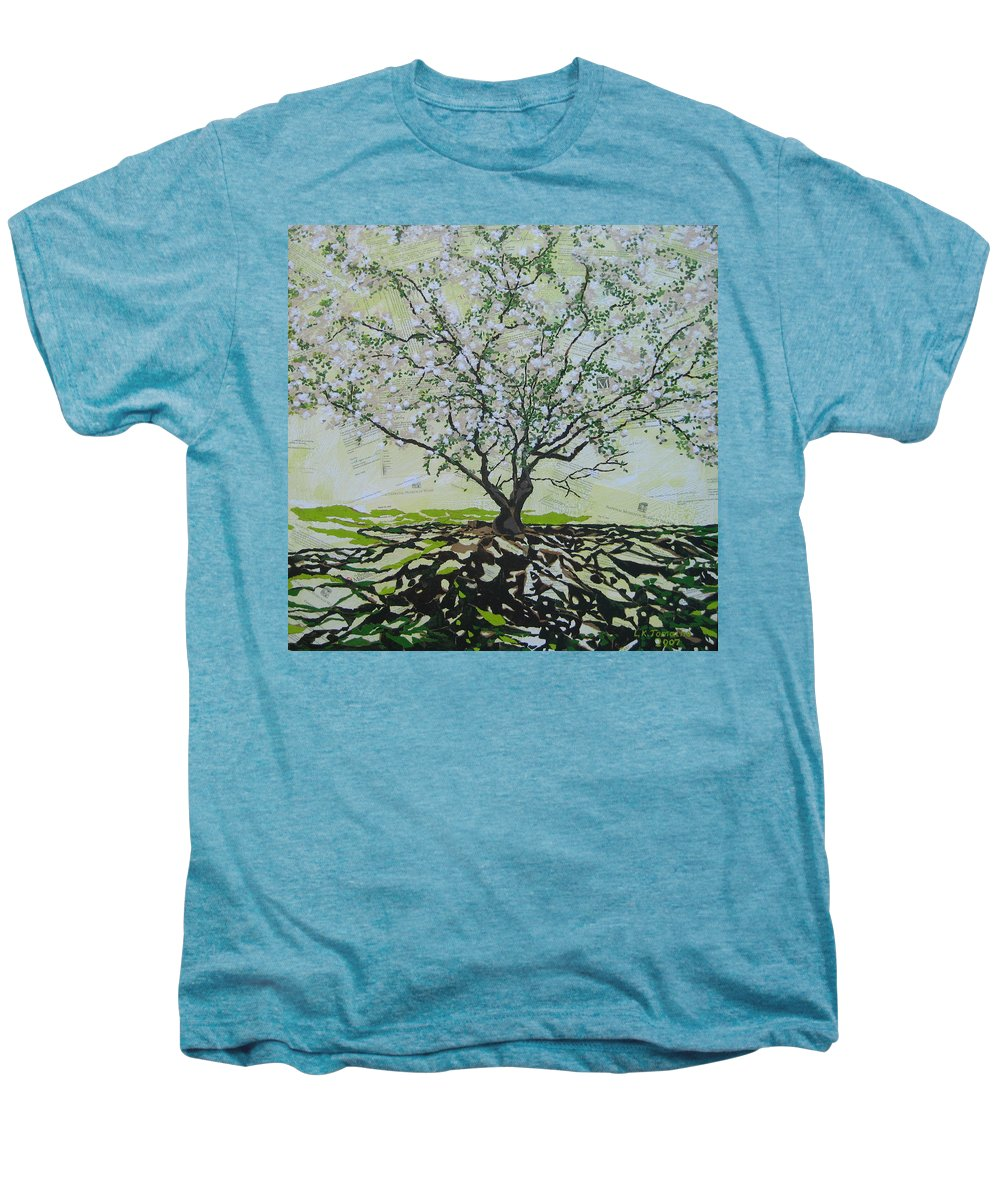 Apple Tree Men's Premium T-Shirt featuring the painting Sincerely-the Curator by Leah Tomaino