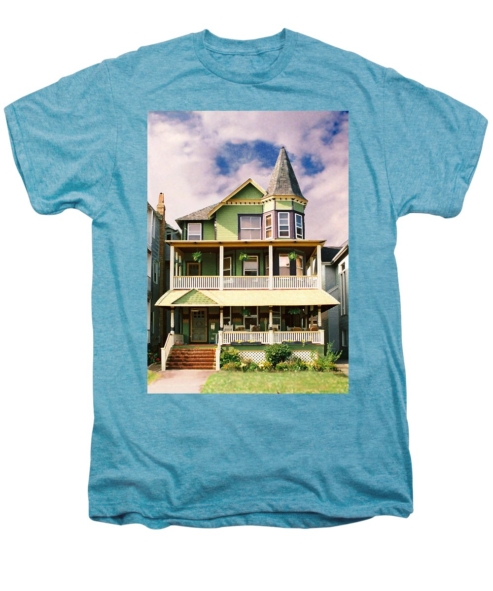Archtiecture Men's Premium T-Shirt featuring the photograph Sisters Panel 1 Of Triptych by Steve Karol