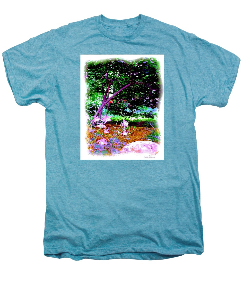 Fine Art Men's Premium T-Shirt featuring the painting Sitting In The Shade by Patricia Griffin Brett