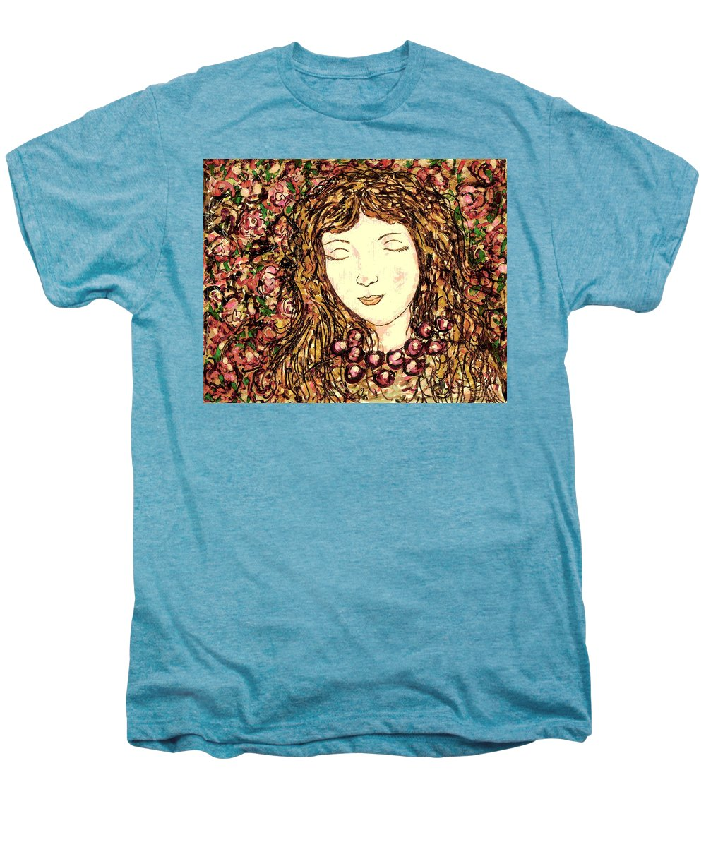 Sleeping Beauty Men's Premium T-Shirt featuring the painting Sleeping Beauty by Natalie Holland