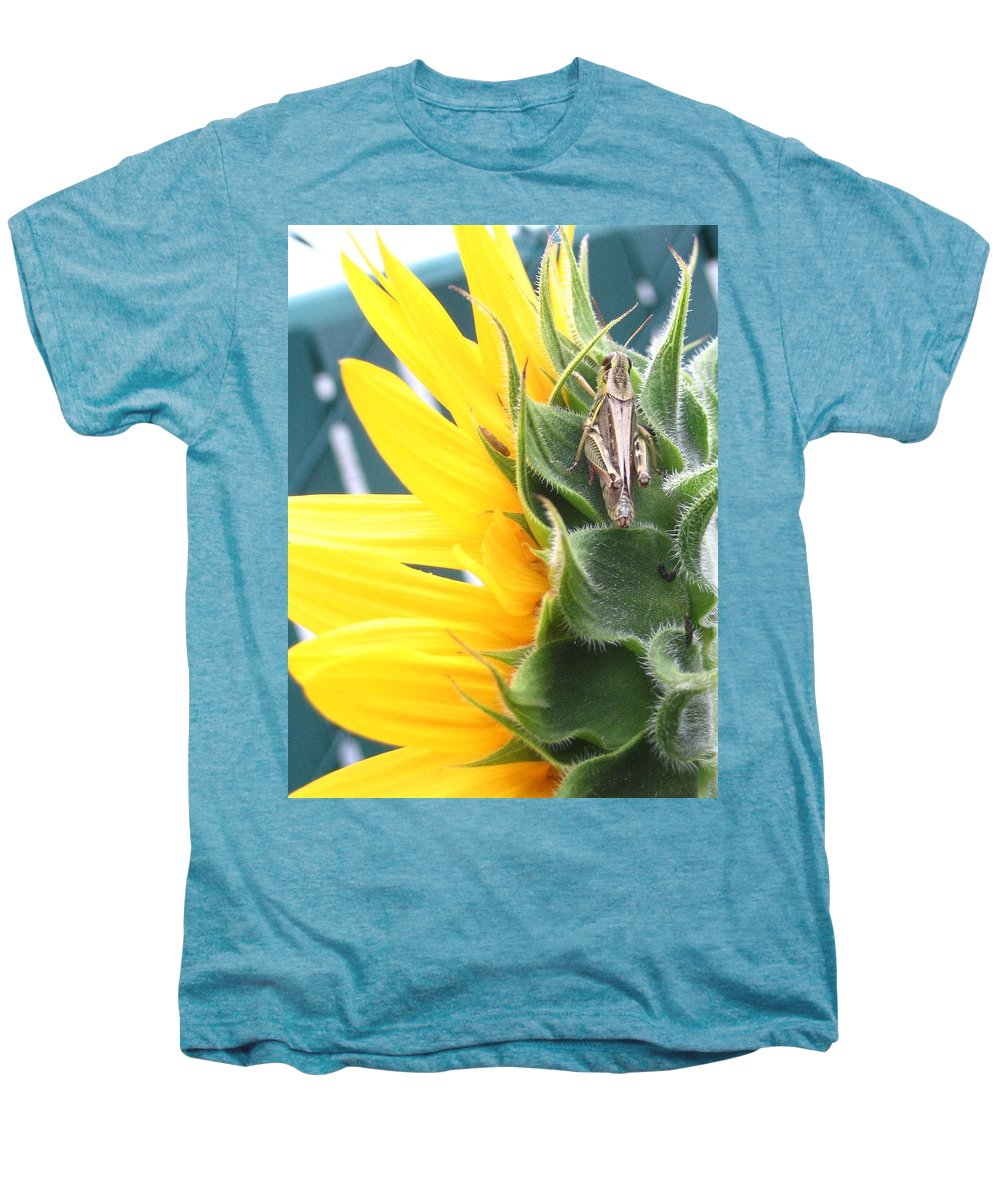 Sunflower Men's Premium T-Shirt featuring the photograph Small Break by Line Gagne