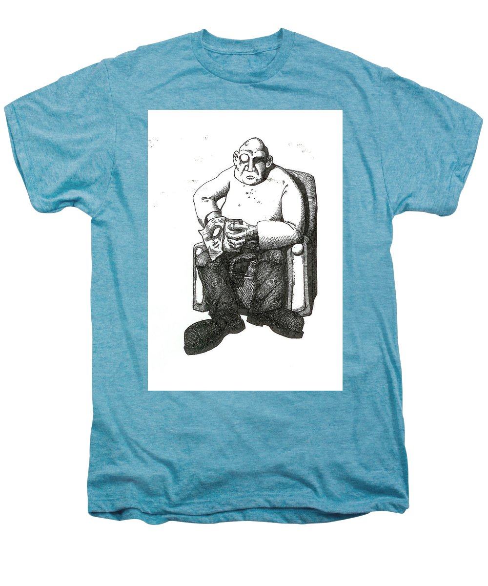 Buddha Men's Premium T-Shirt featuring the drawing Snacks by Tobey Anderson
