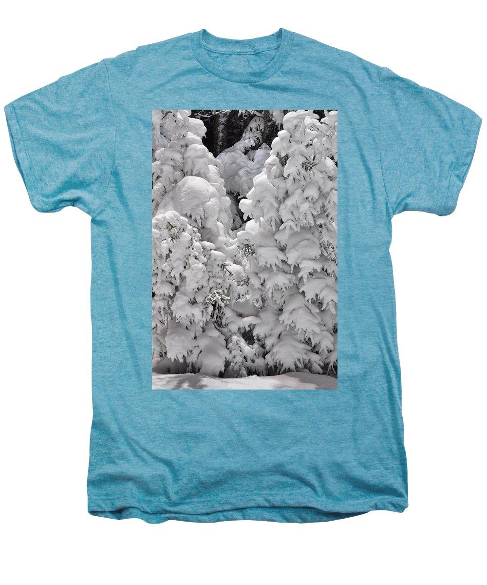 Snow Men's Premium T-Shirt featuring the photograph Snow Coat by Alex Grichenko