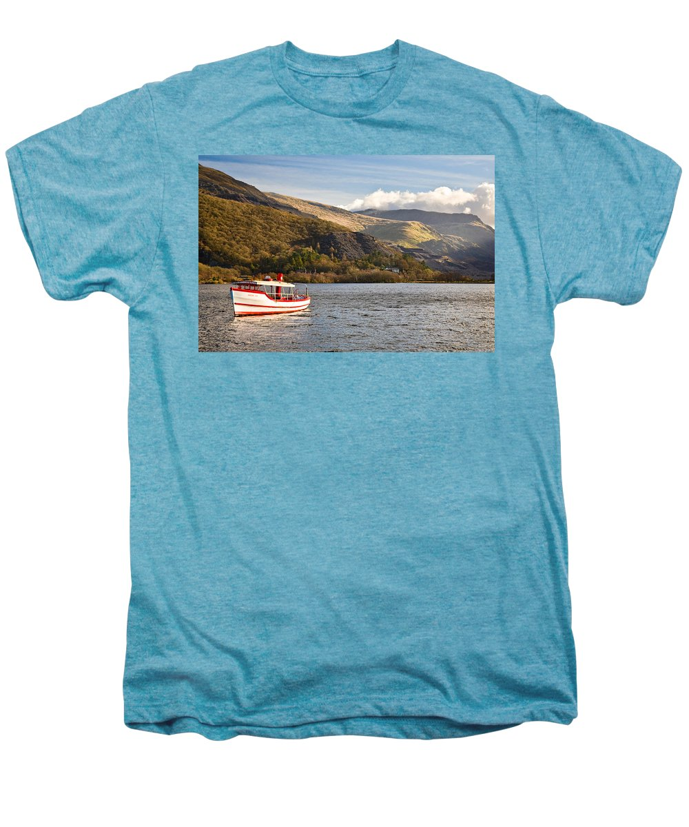 Snowdonia Men's Premium T-Shirt featuring the photograph Snowdon Star by Dave Bowman