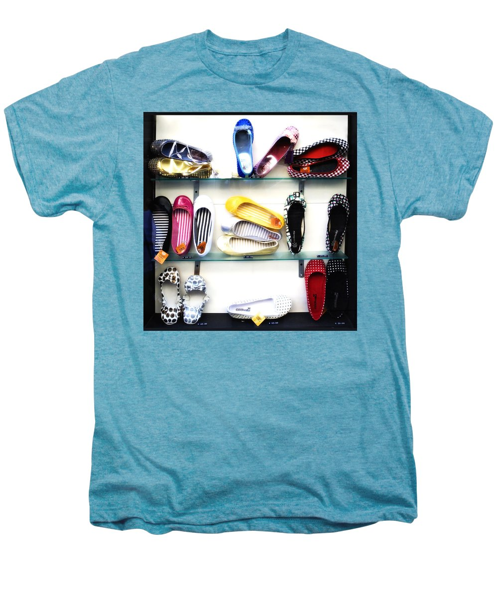 Shoes Men's Premium T-Shirt featuring the photograph So Many Shoes... by Marilyn Hunt