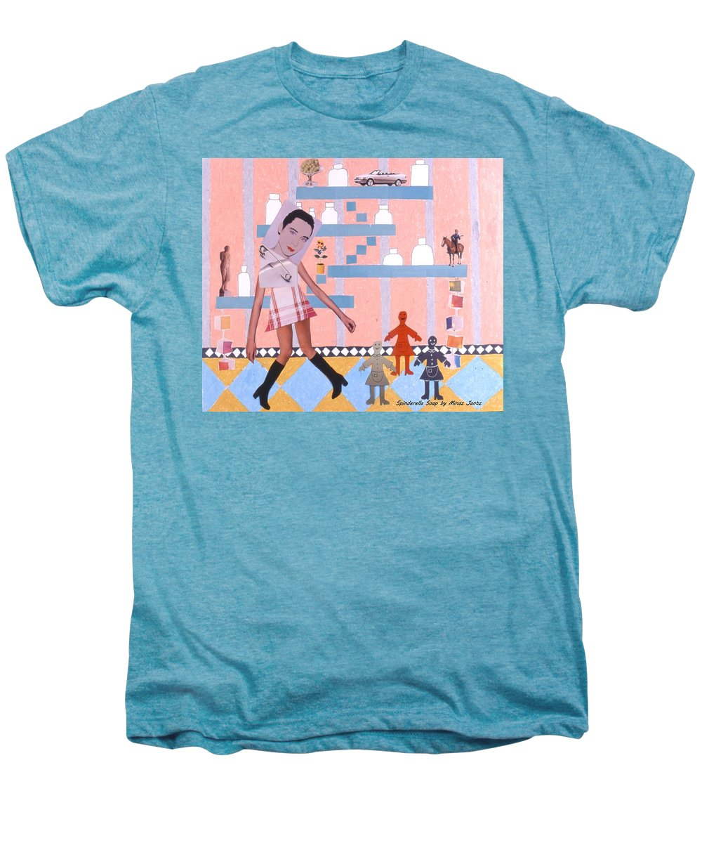 Cowboy Men's Premium T-Shirt featuring the drawing Soap Scene #16 Miracle Maids by Minaz Jantz