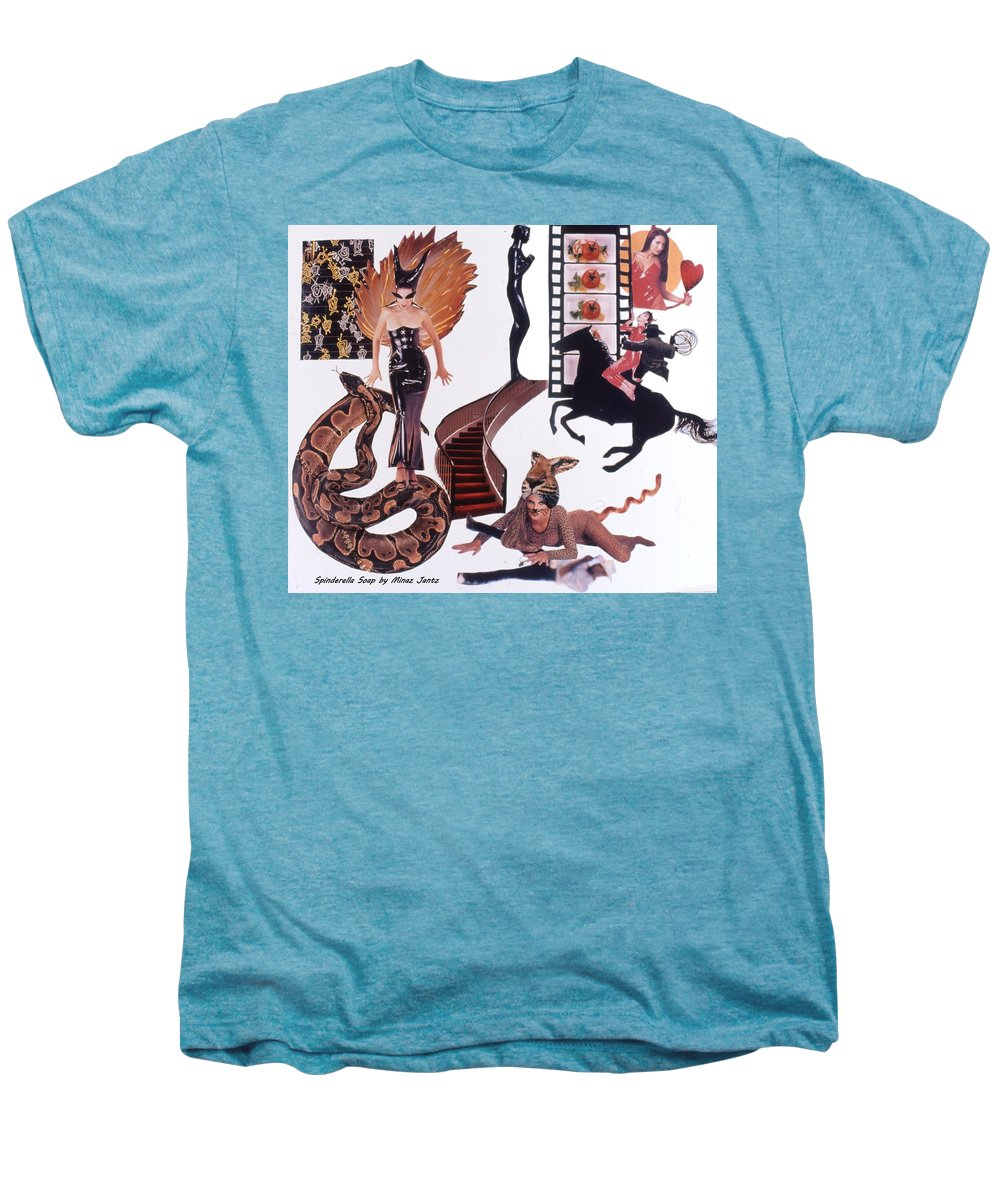 Boa Men's Premium T-Shirt featuring the drawing Soap Scene #22 Lust In The Wind by Minaz Jantz