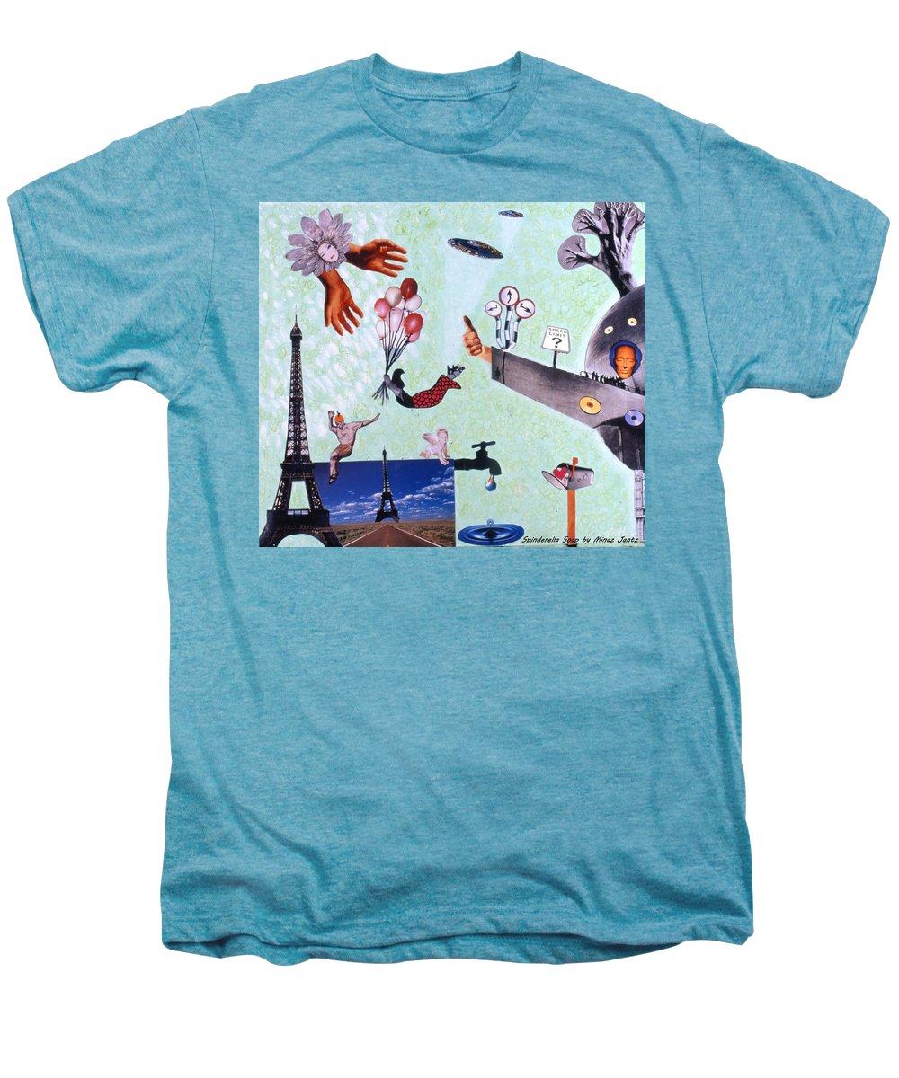 Eiffel Tower Men's Premium T-Shirt featuring the drawing Soap Scene #27 Zelestial Headquarters by Minaz Jantz
