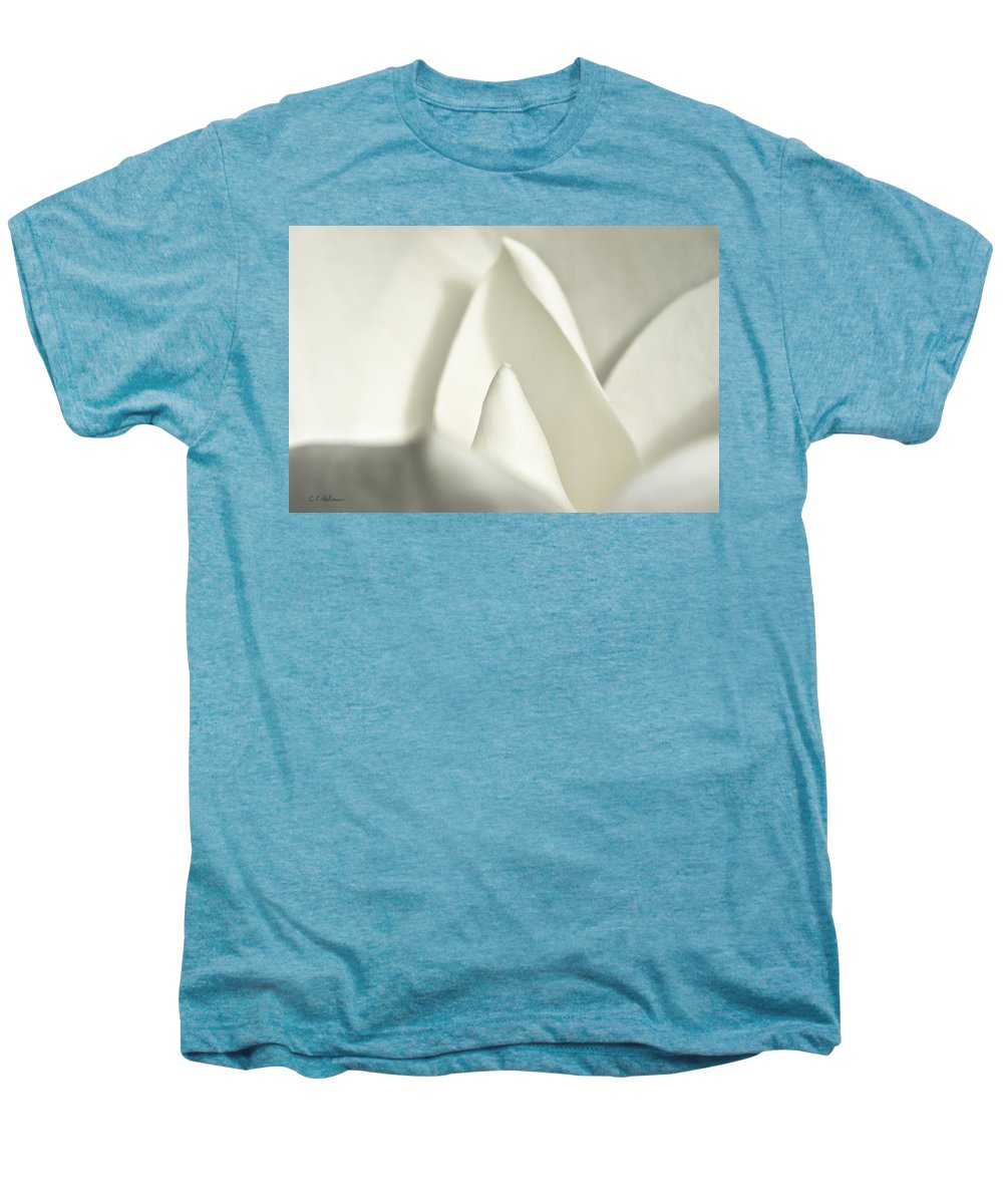 Magnolia Men's Premium T-Shirt featuring the photograph Soft Magnolia by Christopher Holmes