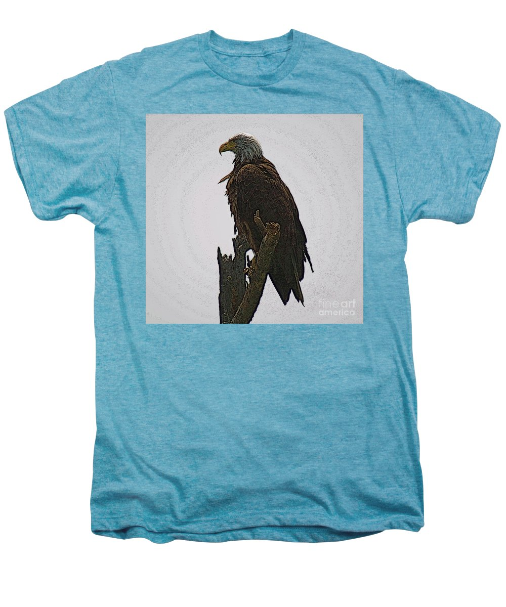 Bald Eagle Men's Premium T-Shirt featuring the photograph Solitude by Robert Pearson