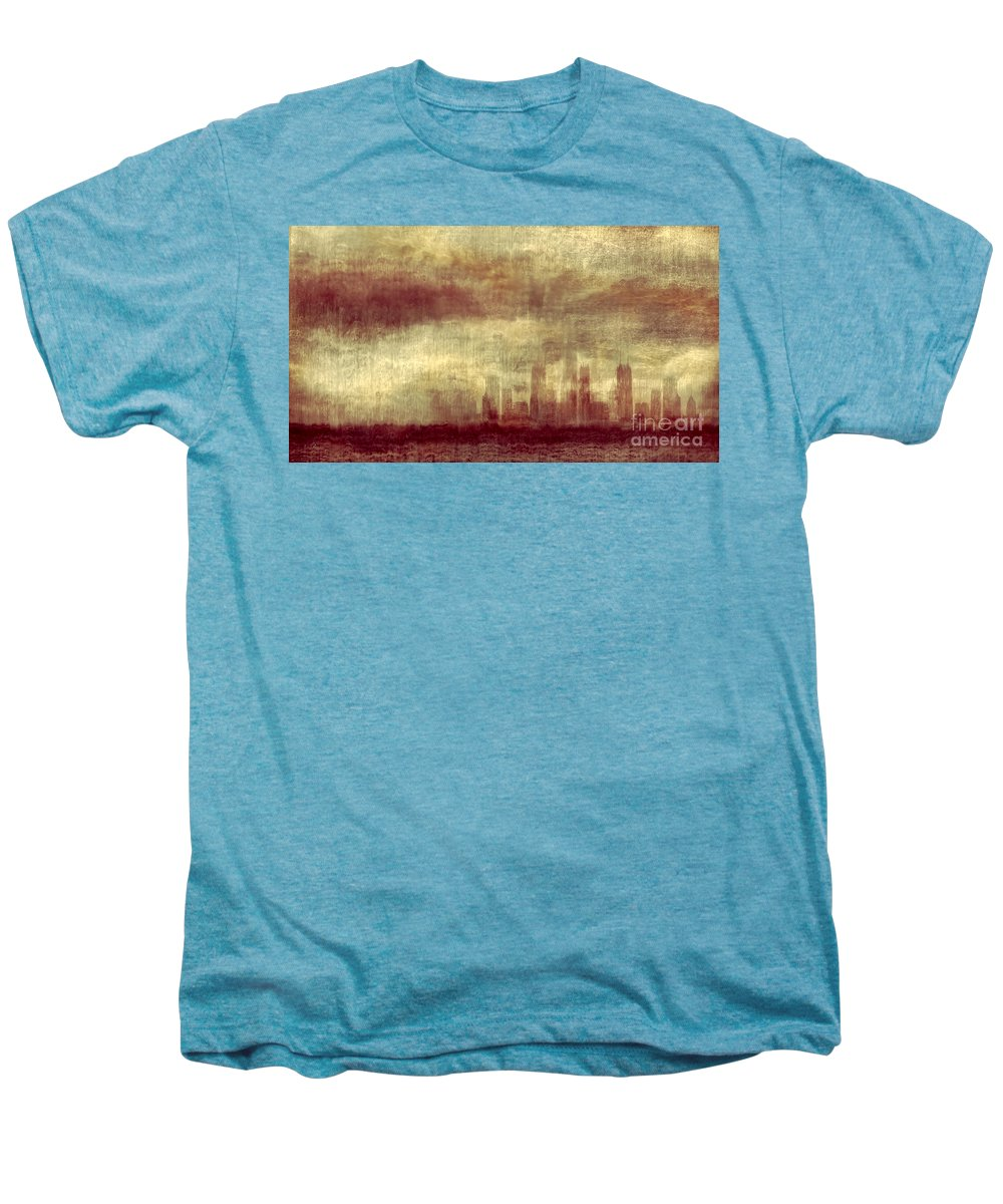Clouds Men's Premium T-Shirt featuring the photograph Someone To Hold You Beneath Darkened Sky by Dana DiPasquale