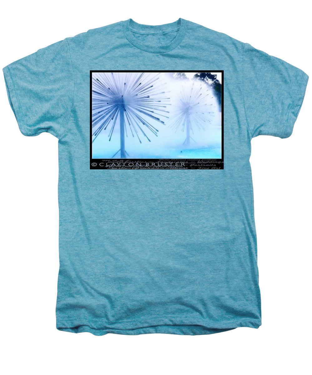 Clay Men's Premium T-Shirt featuring the photograph Southern California Fountains by Clayton Bruster