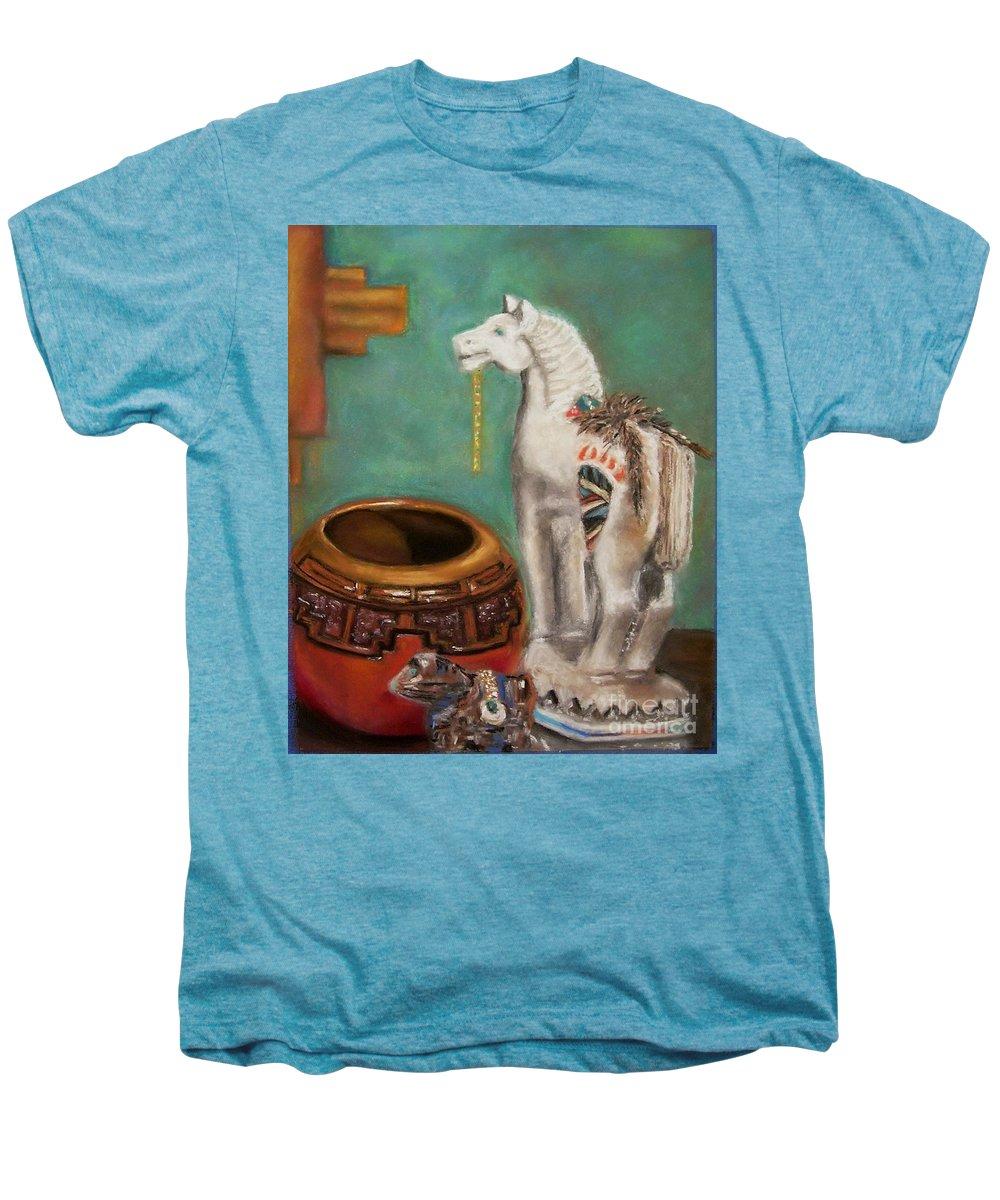 Southwest Art Men's Premium T-Shirt featuring the painting Southwest Treasures by Frances Marino