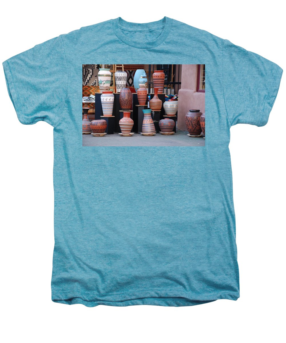 Southwestern Men's Premium T-Shirt featuring the photograph Southwestern Potery by Rob Hans
