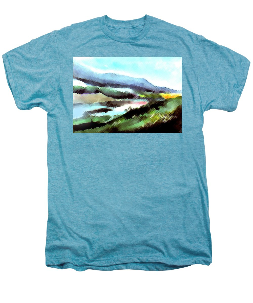 Digital Art Men's Premium T-Shirt featuring the painting Sparkling by Anil Nene